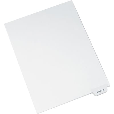 Avery Bottom Tab Dividers, Exhibit E, White, 8 1/2 x 11, 25/Pk (AVE11944)