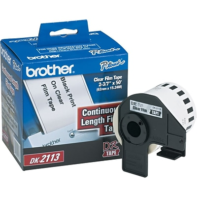 Brother P-Touch® Label Printer Film Labels, DK2113, Clear, 50 x 2 3/7