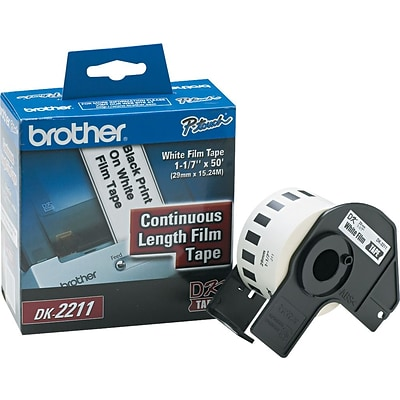 Brother P-Touch® Label Printer Film Labels, DK2211, White, 50 x 1-1/7