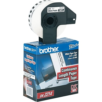 Brother P-Touch® Label Printer Paper Labels, DK2214, White, 100 x 1/2 (DK2214)