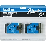 Brother Tape Cartridge, Gold/Black, 1/2W x 25L (TC33)