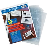 C-Line Business Card Refill Pages, Clear, 20 Cards/Page, 11 x 8 1/2, 10/Pk