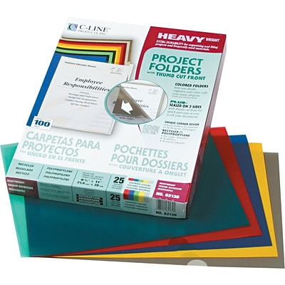 See-thru Plastic File Folders, Assorted