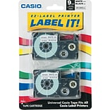 Casio 3/8 Label Tape Black on White