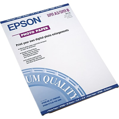 Epson Glossy Photo Paper, 13 x 19, 20/Pack (EPSS041143)
