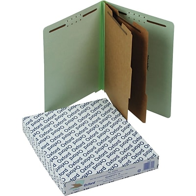 Oxford Pressboard End-Tab Classification Folders, Letter, 6 Sections