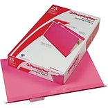 Pendaflex Reinforced Hanging File Folders, 1/5 Tab, Legal Size, Pink, 25/Box (04153 1/5 PIN)