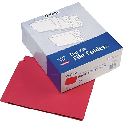 Pendaflex® Colored End-Tab Folders, Red