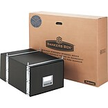 StaxOnSteel® Storage Drawer, Legal, Steel Frame, 17 x 25-1/2 x 11-1/8, Black, 6/Carton