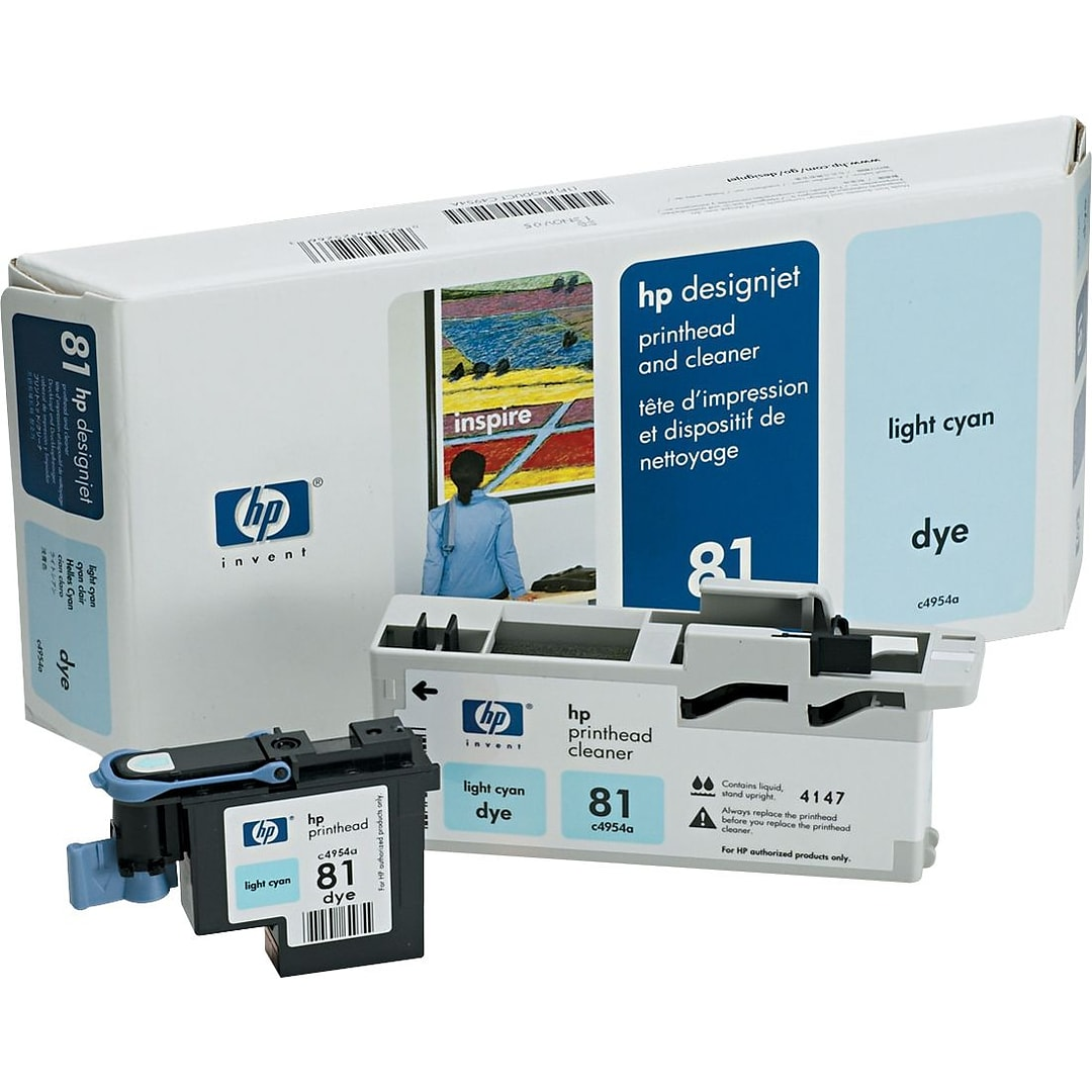 Hp 81 Light Cyan Printhead And Cleaner C4954a 680 Ml Black Designjet Dye Ink Cartridge Original This Web Site Is Intended Only For Use By Us Residents