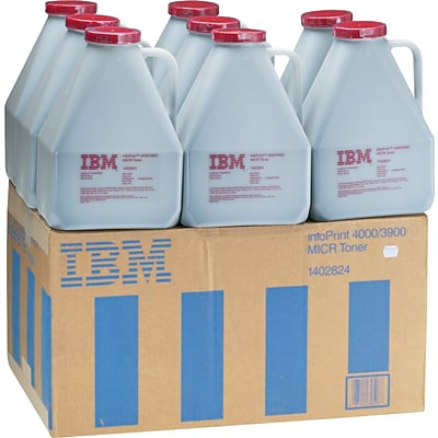 IBM® InfoPrint Solutions 1402824 MICR Extra-High-Yield Toner, Black, Multi-pack (8 each per pack)