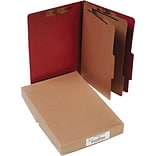ACCO Pressboard Legal Size Classification Folder, 6 Parts,  10/Box (16036)