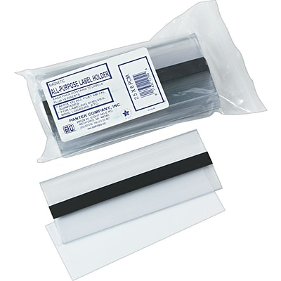Clear Magnetic Label Holders, 6 x 2-1/2, 10/Pack
