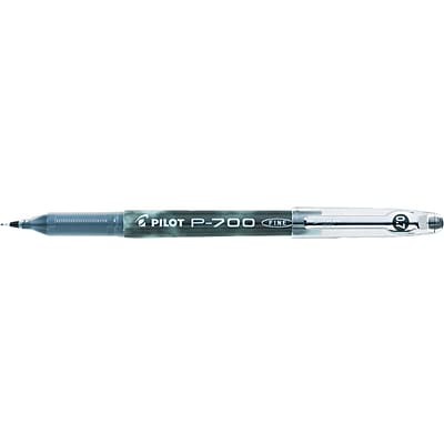 Pilot Precise P-700 Rollerball Pen, Fine Point, Black Ink (38610)