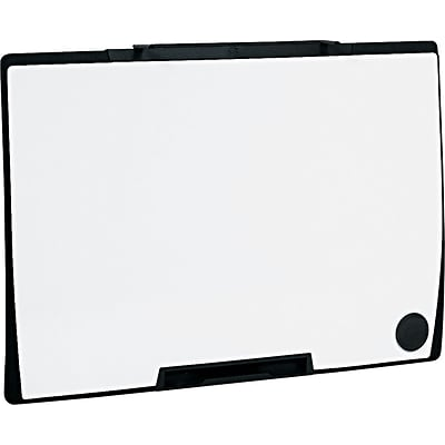 Quartet® Motion® Cubicle Whiteboard, Melamine Surface, Black Frame, 3W x 2H (MMP75)