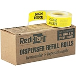 Redi-Tag® Yellow Sign Here Flag Refill Rolls, 6 Rolls