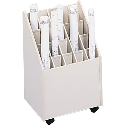 Safco® Mobile Files, for Small Roll, Tube Size: 2-3/4x2-3/4, 20 Tubes/file