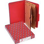 Smead 2 Part Classification Folders with Pocket Dividers, Red, Legal,-size Holds 8 1/2 x 14, 10/Bo