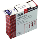 Smead BCCR Bar-Style Color-Coded Alphabetic Label, Z, Label Roll, Lavender, 500 labels per Roll, (67