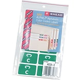 Smead AlphaZ ACCS Hand Written Identification & Color Coding Label, 1 5/8 x 1, Dark Green w/White,