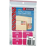 Smead AlphaZ ACCS Hand Written Identification & Color Coding Label, 1 5/8 x 1, Purple with White L