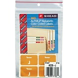 Smead® AlphaZ ACCS Color-Coded Alphabetic Label, J, Yellow, 100 Labels per Pack (67180)