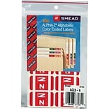 Smead AlphaZ ACCS Hand Written Identification & Color Coding Label, 1 5/8 x 1, Red with White Lett