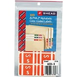 Smead AlphaZ ACCS Hand Written Identification & Color Coding Label, 1 5/8 x 1, Pink/White, 100/Pac