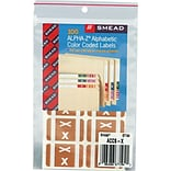 Smead AlphaZ ACCS Hand Written Identification & Color Coding Label, 1 5/8 x 1, Light Brown, 100/Pa