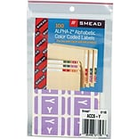 Smead AlphaZ ACCS Hand Written Identification & Color Coding Label, 1 5/8 x 1, Lavender, 100/Pack
