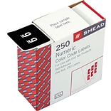 Numeric Labels, 250 Labels/Roll, 9 Black