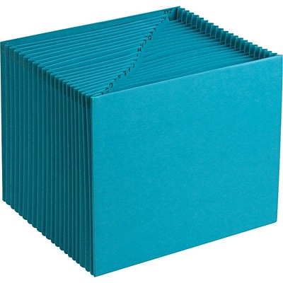 Smead® Expanding File, Alphabetic (A-Z), 21 Pockets, Letter, Teal (70717)
