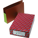 Smead® Drop-Front End-Tab File Pockets with Green Gussets, Legal, Redrope, 10/Bx (74680)