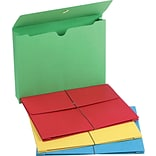 Colored Expanding Wallets, Letter, 2 Expansion, 50/Box
