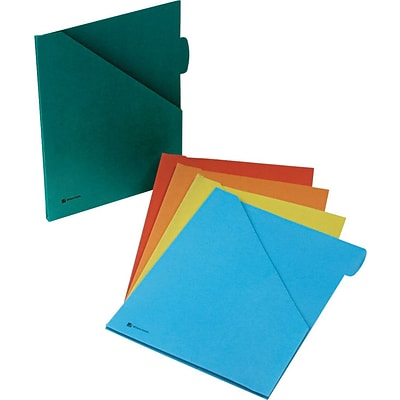 Wilson Jones ColorLife® Plus Expanding Slash Jackets, Assorted Colors, Letter size, Holds 8 1/2 x 11 Sheets, 5/Pk