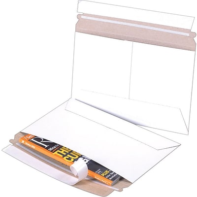 Self-Seal Side-Opening StayFlat White Mailers, 9 x 6, 200/Case