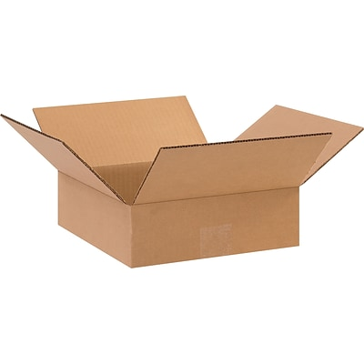 10 x 10 x 3 Shipping Boxes, 32 ECT, Brown, 25/Bundle (10103)