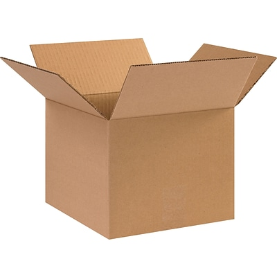 10(L) x 10(W) x 8(H) Shipping Boxes, 32 ECT, Brown, 25/Bundle (10108)