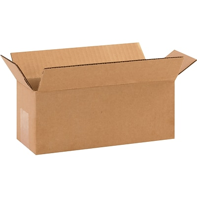 10 x 4 x 4 Shipping Boxes, 32 ECT, Brown, 25/Bundle (1044)