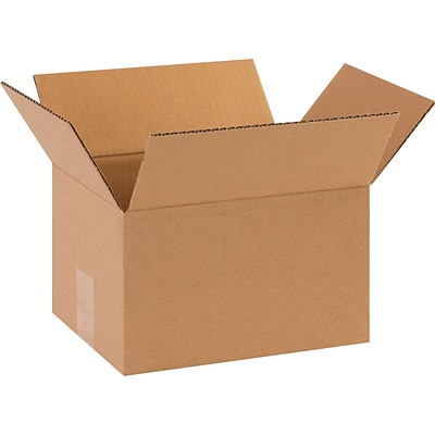 10(L) x 7(W) x 4(H) Shipping Boxes, 32 ECT, Brown, 25/Bundle (1074)