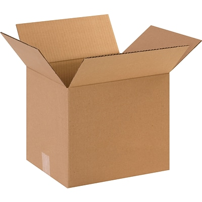 12 x 10 x 12 Shipping Boxes, 32 ECT, Brown, 25/Bundle (121012)