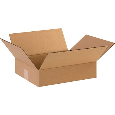 12 x 10 x 3 Shipping Boxes, 32 ECT, Brown, 25/Bundle (12103)