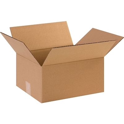 12(L) x 10(W) x 6(H) Shipping Boxes, 32 ECT, Brown, 25/Bundle (12106)