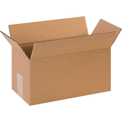 12(L) x 6(W) x 6(H) Shipping Boxes, 32 ECT, Brown, 25/Bundle (1266)