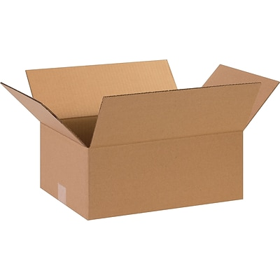 15 x 11 x 6 Shipping Boxes, 32 ECT, Brown, 25/Bundle (15116)
