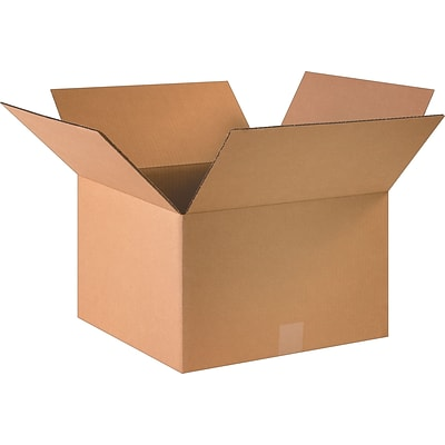 16 x 16 x 10 Shipping Boxes, 32 ECT, Brown, 25/Bundle (161610)