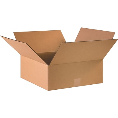 16 x 16 x 6 Shipping Boxes, 32 ECT, Brown, 25/Bundle (16166)