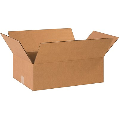18.5 x 12.5 x 6 Shipping Boxes, 32 ECT, Brown, 25/Bundle (18126R)