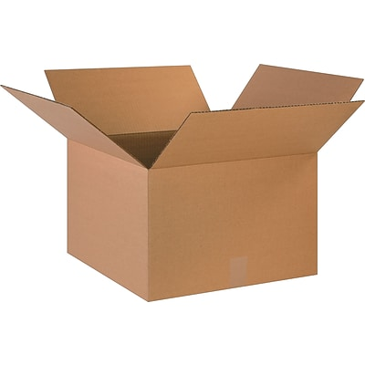 18 x 18 x 12 Shipping Boxes, 32 ECT, Brown, 20/Bundle (181812)