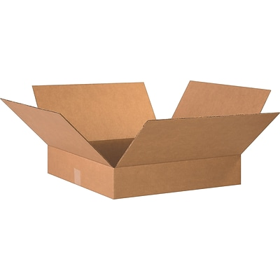 20(L) x 20(W) x 4(H) Shipping Boxes, 32 ECT, Brown, 10/Bundle (20204)